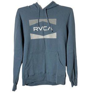 RVCA Hoodie Pull Over Casual Blue Gary Medium